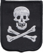 Pirate Skull And Crossbones Jolly Roger Flag Embroidered Badge (a393)